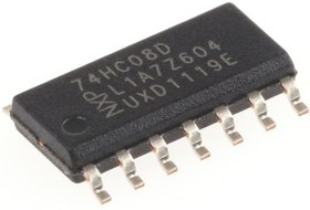 74HC08D,652, QUAD 2I/P AND GATE,74HC08D SOIC14 2-6V