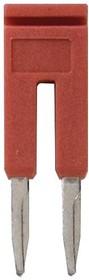 XW5S-P4.0-2RD, Перемычка, серия XW5S, 2 полюса, красная, для клеммных колодок на DIN-рейку серий XW5T и XW5G