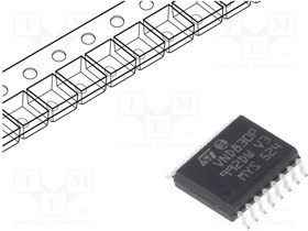 VND830P-E, IC: power switch; high-side; 6А; Каналы:2; SMD; SO16-W; -40 125°C