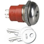 Фото 2/2 Y208122A203NQ, Switch Key Lock DPDT 45° Flat Key 4A 250VAC 28VDC Solder Lug Panel Mount