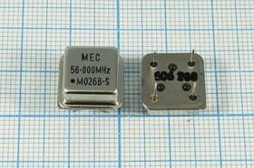 Фото 1/2 Кварцевый генератор 56МГц 3.3В,HCMOS/TTL в корпусе DIL8=HALF, гк 56000 \\HALF\T/CM\3,3В\ MO-26B-S\MEC