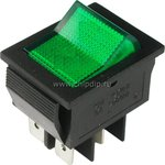 IRS-201-2B1 (зеленый), Переключатель с подсветкой ON-OFF ...