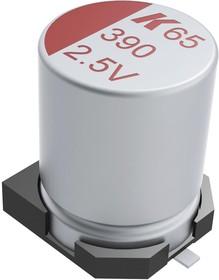Фото 1/2 A765EG337M0JLAE017, Polymer Aluminium Electrolytic Capacitor, 330 мкФ, 6.3 В, Radial Can - SMD, серия A765, 0.017 Ом