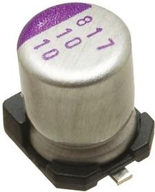 Фото 1/2 ECAP SMD, 560 мкф, 2,5В, 105°C, 2R5SVPC560M, Конденсатор электролитический алюминиевый SMD