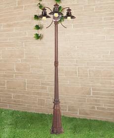 Фото 1/3 GL 3002F/3 / Светильник садово-парковый Talli F/3 брауни
