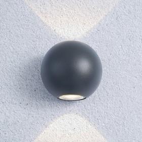 Фото 1/9 1566 TECHNO LED / Светильник садово-парковый со светодиодами DIVER серый