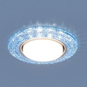 Фото 1/4 3030 GX53 / Светильник встраиваемый BL синий