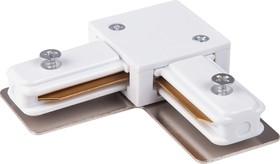Фото 1/2 TRC-1-1-L-WH / Соединитель электрический Коннектор угловой для однофазного шинопровода (белый) /