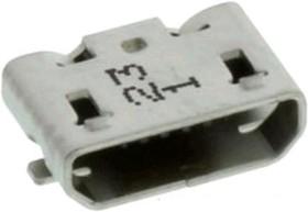 47346-1001, Разъем USB, Micro USB Типа B, Гнездо, 5 вывод(-ов), Поверхностный Монтаж, Прямой Угол