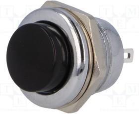 PS507MA-B, Переключатель кнопочный Положения 2 SPST-NO черный