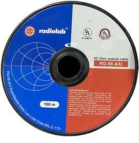 RADIOLAB RG-58 A/U PVC коаксиальный кабель 100 м