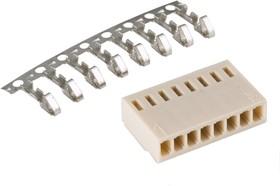 Фото 1/2 HU-8 (DS1070-8 F), Розетка на кабель c контактами 2.54мм