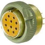 Разъем цилиндрический PY04-10F-Y-AU yellow