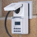TMH-E-6 16A x1 IP44 / Розетка-таймер электронная Белый