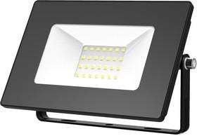 Фото 1/3 Прожектор светодиодный Elementary 30Вт 2100лм IP65 6500К черн. ПРОМО Gauss 613100330P
