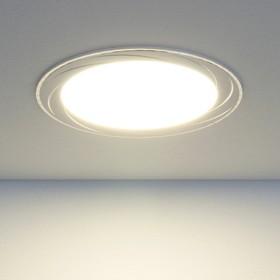 Фото 1/3 DLR004 12W 4200K / Светильник встраиваемый WH белый