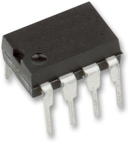 MCP6002-E/P, Операционный усилитель, Двойной, 2 Усилителя, 1 МГц, 0.6 В/мкс, 1.8В до 6В, DIP, 8 вывод(-ов)
