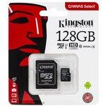 Карта памяти microSDXC UHS-I U1 KINGSTON 128 ГБ, 80 МБ/с ...