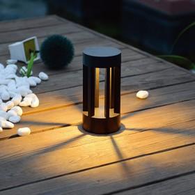 Фото 1/6 1621 TECHNO LED / Светильник садово-парковый со светодиодами графит Ares