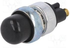 A2-19-14-A1, Переключатель кнопочный, Положения 2, SPST-NO, 60A/12ВDC, черный