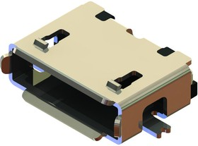 USB3085-30-A, MICRO USB, 2.0 TYPE AB, RECEPTACLE, SMT
