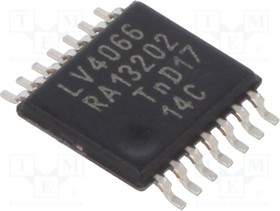 74LV4066PW,112, Analog Switch Quad SPST Automotive 14-Pin TSSOP Bulk