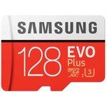Флеш карта microSDXC 128Gb Class10 Samsung MB-MC128HA/RU EVO PLUS + adapter