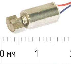 Вибромотор 1.3В, 10000 оборот/мин; № 4359 двиг вибро 1,3В\0,12А\\10000\ 5x10m14\QX-5A\