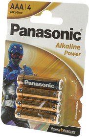 Фото 1/2 Panasonic Alkaline Power LR03 Power Rangers BL4, Элемент питания