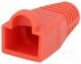 795-601306, Корпус вилки RJ45; 6мм; Цвет: красный