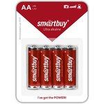Фото 3/3 Батарейка алкалиновая Smartbuy LR6/4B (48/480) (SBBA-2A04B)