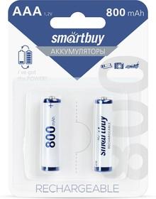 Фото 1/2 Аккумулятор NiMh Smartbuy AAA/2BL 800 mAh (24/240) (SBBR-3A02BL800)