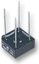 Фото 1/2 VS-KBPC101, Мостовой выпрямитель, однофазный, 3А до 6А, 50В до 1кВ