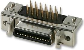 10220-5212PL, Разъем Micro D Sub, угловой, Серия 102, Гнездо, 20 контакт(-ов), Сквозное Отверстие