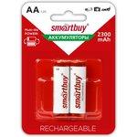 Фото 4/5 Аккумулятор NiMh Smartbuy AA/2BL 2300 mAh (24/240) (SBBR-2A02BL2300)