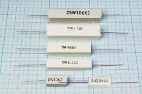 Резистор проволочный мощный (цементный) SQP 5 Вт, 1.5 Ом, 5%, Р 1,5 \ 5\AXI 22,0x 9,5x 9,0\ 5\WW\2L\SQP5\