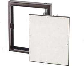 D3030 ceramo steel, Люк под плитку на петле, окрашенный металл, 300х300