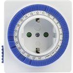 Розетка с таймером механическим 3600Вт, 96 вкл./выкл. сутки, интервал 15 мин.