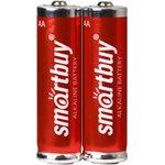 Батарейка алкалиновая Smartbuy LR6/2B (24/240) (SBBA-2A02B)