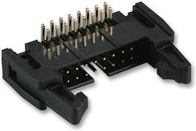 Фото 1/2 N3429-5302RB, Conn Ejector Header HDR 26 POS 2.54mm Solder RA Side Entry Thru-Hole