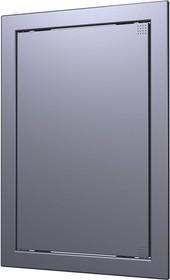 Л1515 dark gray metal, Люк-дверца ревизионная 168х168 с фланцем 146х146 ABS, декоративный