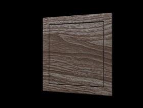Л1520 oak, Люк-дверца ревизионная 168х218 с фланцем 146х196 ABS, декоративный