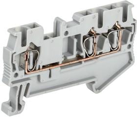 Клемма пружинная КПИ 3в-2.5 3 вывода 31А сер. IEK YZN11-3-002-K03