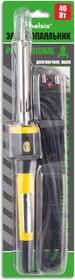 """BSI0340, Паяльник 40 Вт, двухкомпонентная пластиковая ручка. Долговечное жало """"Конус"""". Быстрый нагрев."""