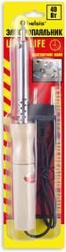 """BSI0240, Паяльник 40 Вт, деревянная ручка. Долговечное жало """"Конус"""". Спиральный нагреватель (ЭПСН)."""