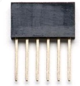 DS1023-30 1x6 for Arduino (PBS-6), Гнездо на плату 2.54мм 1х6 прямое L=11.5mm