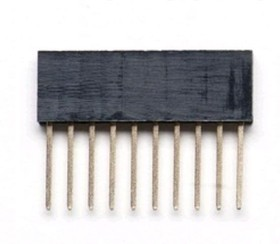 DS1023-30 1x10 for Arduino (PBS10), Гнездо на плату 2.54мм 1х10 прямое L=11.5mm