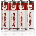 Батарейка алкалиновая Smartbuy ONE LR03/4B (48/480) (SOBA-3A04B-Eco)