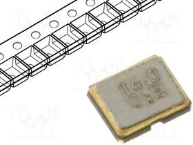 16.00M-SMDXT224, Резонатор: кварцевый; 16МГц; ±10ppm; 12пФ; SMD; 2,6x2,1x0,65мм