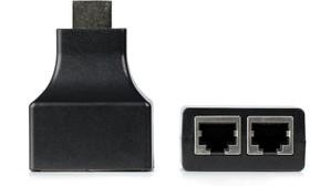 Фото 1/3 Адаптер для передачи HDMI сигнала по витой паре UTP 5e/6, до 30 м. (в компл. 2 адаптера) (A250)/50